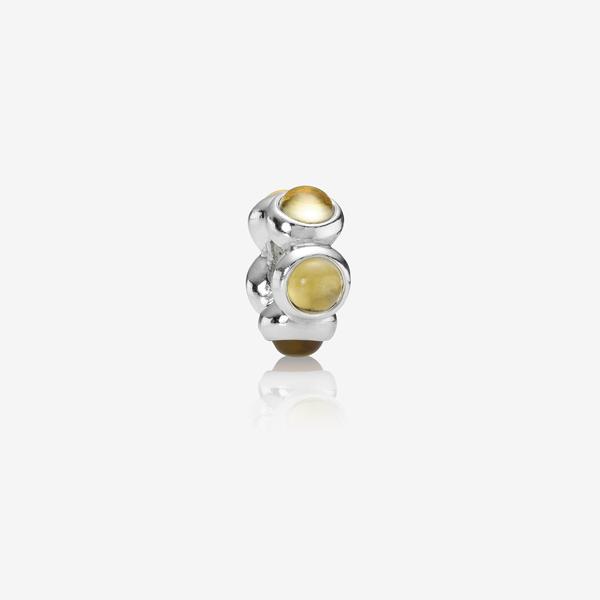 Charm en plata de ley y citrino amarillo image number null