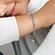 Pulsera Brillos Azules y Transparentes Cierre Deslizante image number null