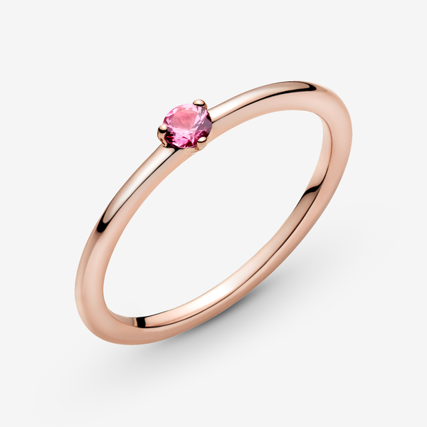 Anillo Solitario Rosa image number null