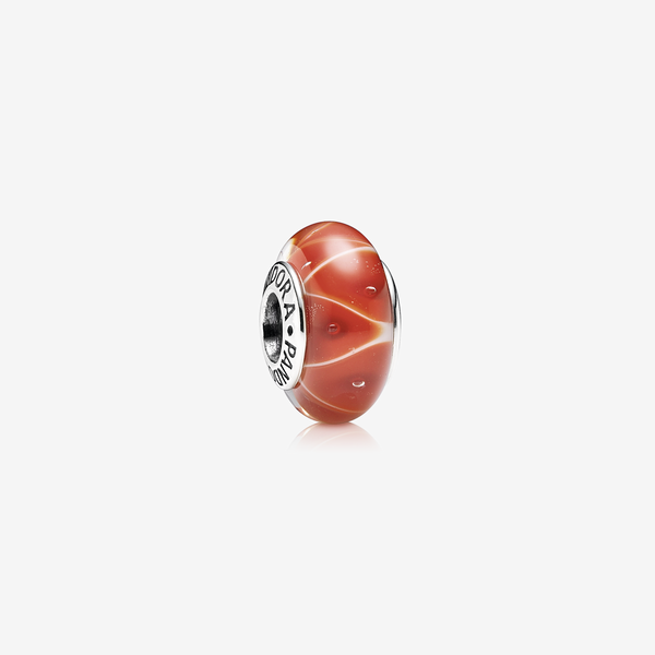 Charm Cristal de Murano Zig-Zag Coral image number null