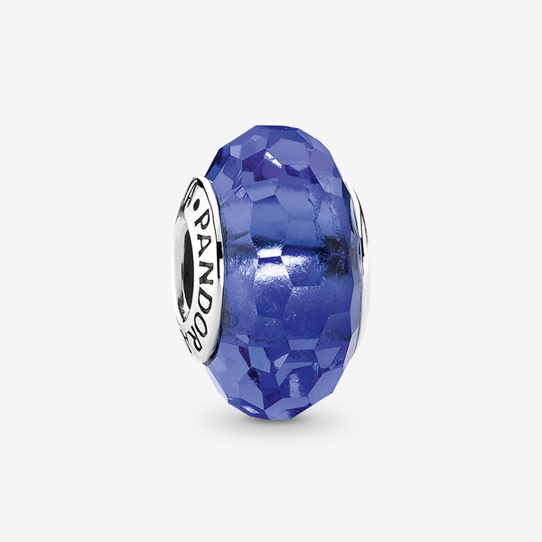 Charm Cristal de Murano Facetado Azul image number null
