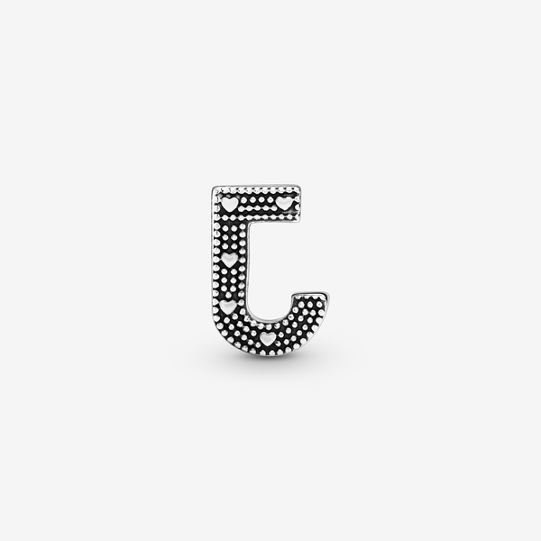 Charm en plata de ley Letra J image number null