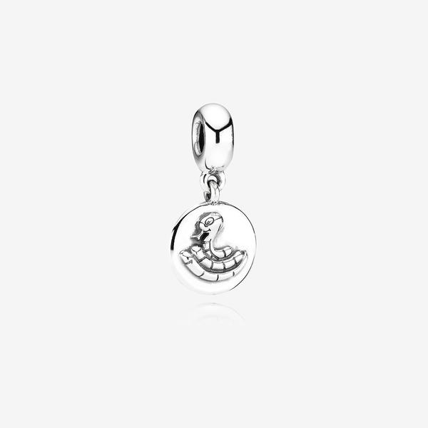 Charm colgante en plata de ley Signo zodiaco chino: Serpiente image number null