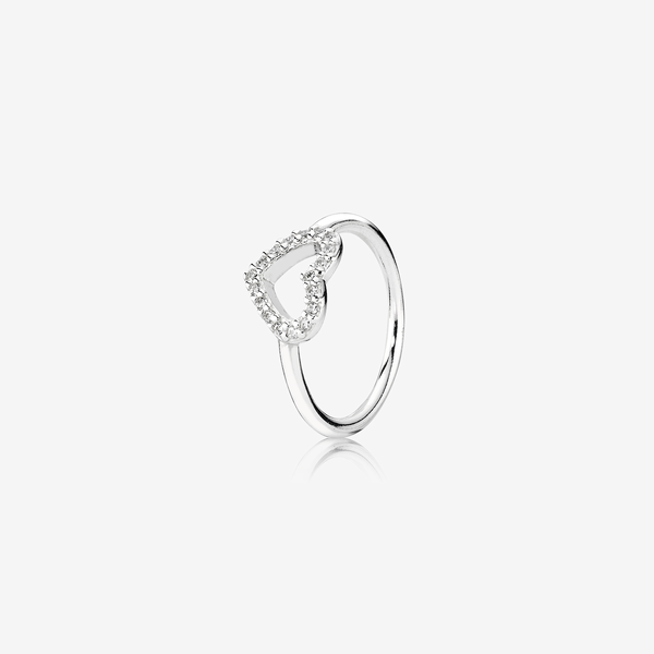 Silver ring with cubic zirconia image number null
