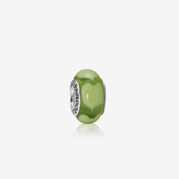 Charm Cristal de Murano Corazón Verde image number null