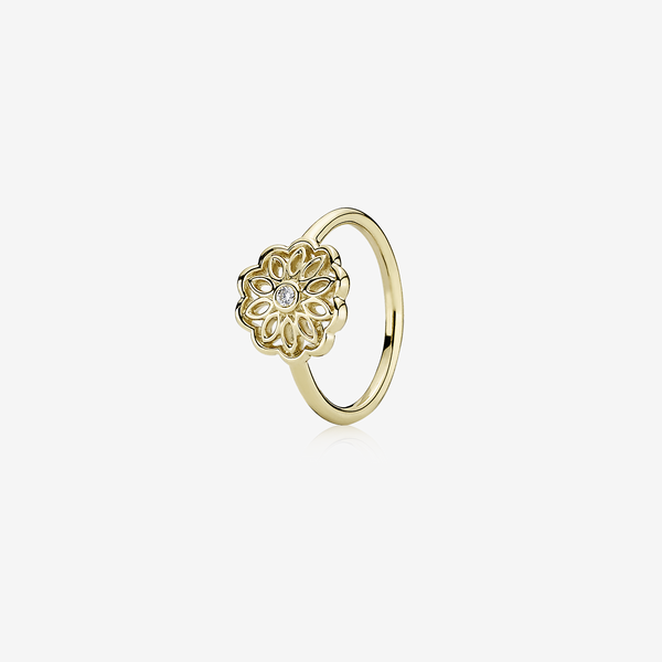 Gold ring, 0,03ct gh/vs diamond image number null