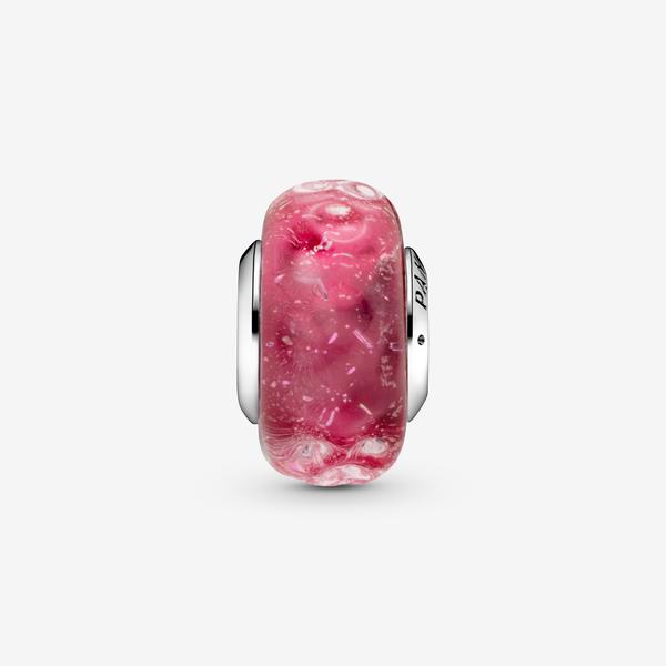 Charm de Cristal de Murano Rosa Fantasía Ondulado image number null