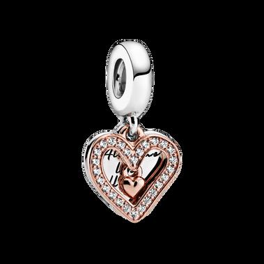 Charm Colgante Boceto de Corazón Brillante
