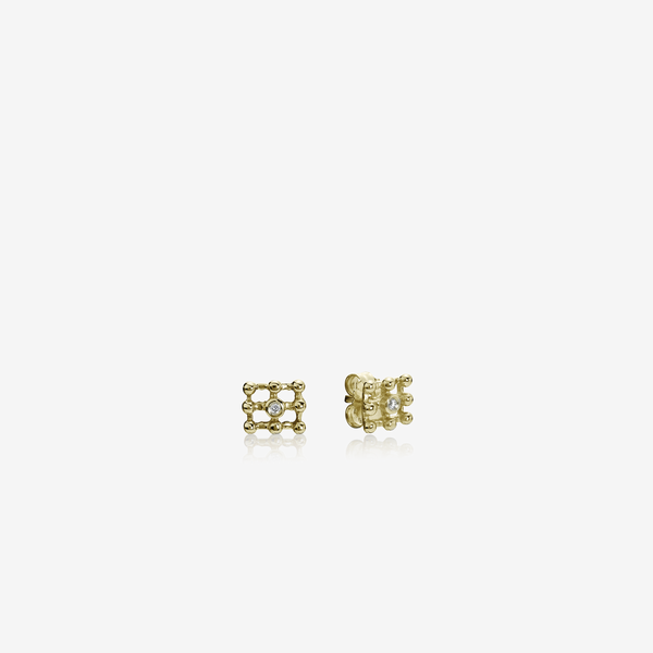 Gold earring, 0.02ct TW h/vs diamonds image number null