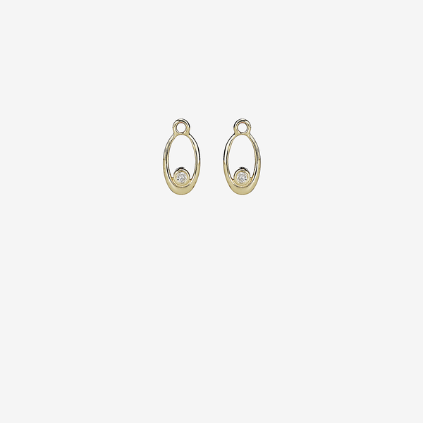 Gold pandant earring, 0.10ct TW h/vs diamonds image number null