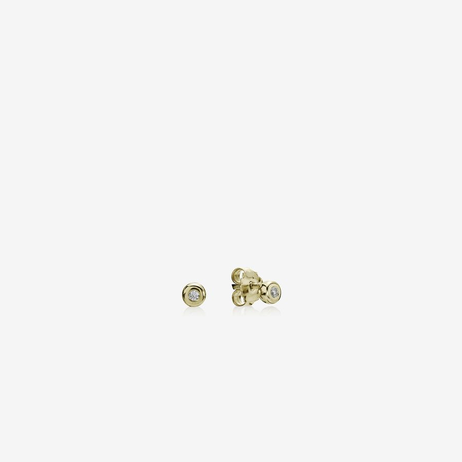 Gold earring, 0.04ct TW h/vs diamonds image number 0