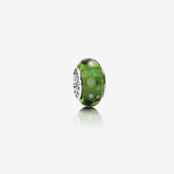 Charm Cristal de Murano Burbujas Verde image number null