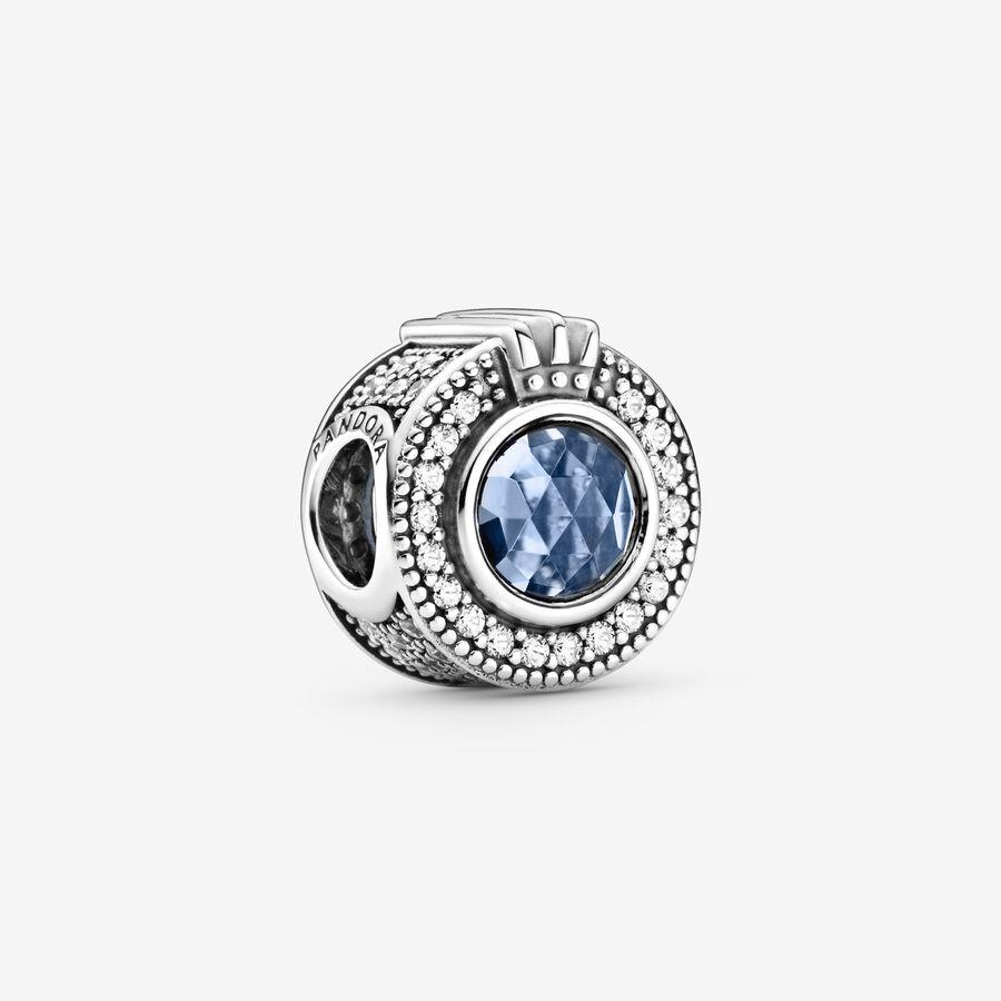 Charm Corona Pandora Azul Brillante image number 0
