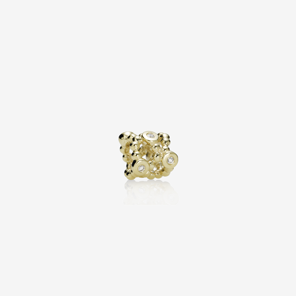 Abstract gold charm, 0.06ct TW h/vs diamonds image number null