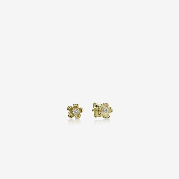 Gold earring, 0.06ct TW h/vs diamonds image number null