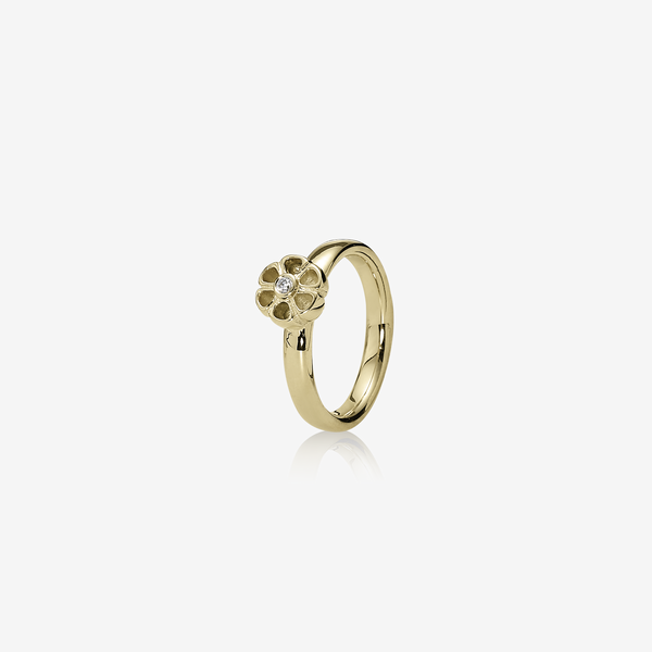 Gold ring, 0.03ct TW h/vs diamond image number null