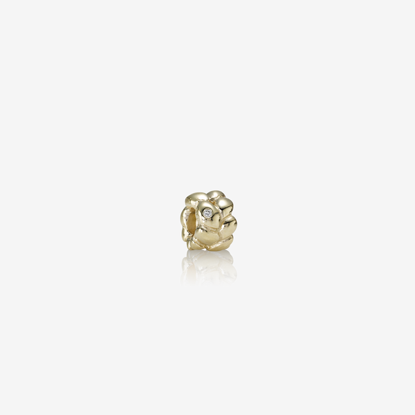 Abstract gold charm, 0.01ct TW h/vs diamond image number null