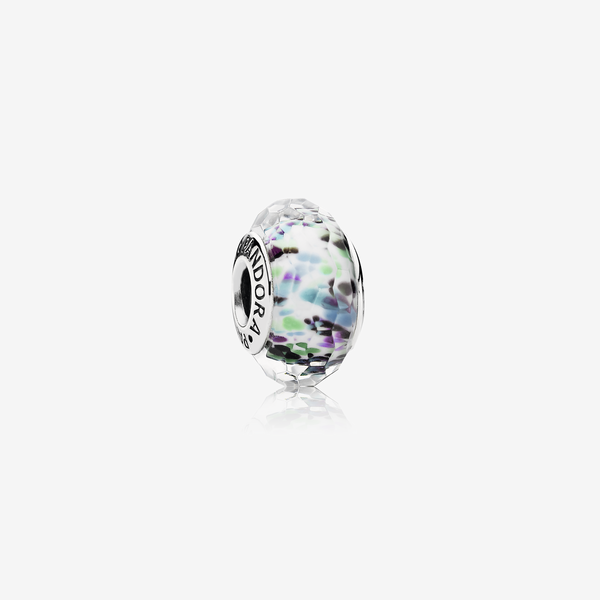 Charm Cristal de Murano Facetado Verde Shibori image number null