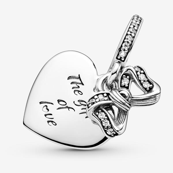 Charm Colgante Lazo y Corazón de Amor image number null