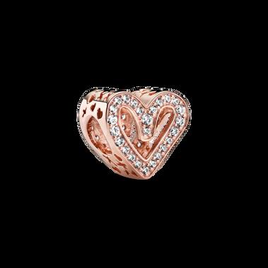 Charm Boceto de Corazón Brillante