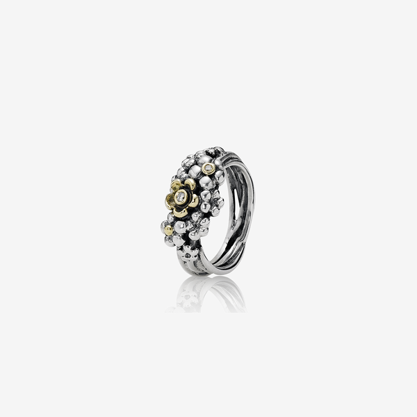 Silver ring, 14k, 0.04ct TW h/vs diamonds image number null