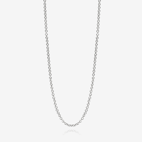 Oxidised silver necklace, belcher chain image number null