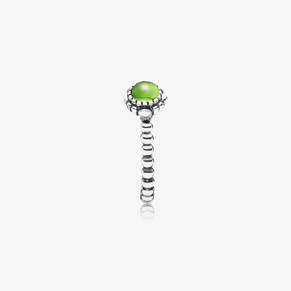 Silver ring, birthstone-August, peridot image number null