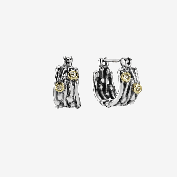 Silver earring, 0.06ct TW h/vs diamonds image number null