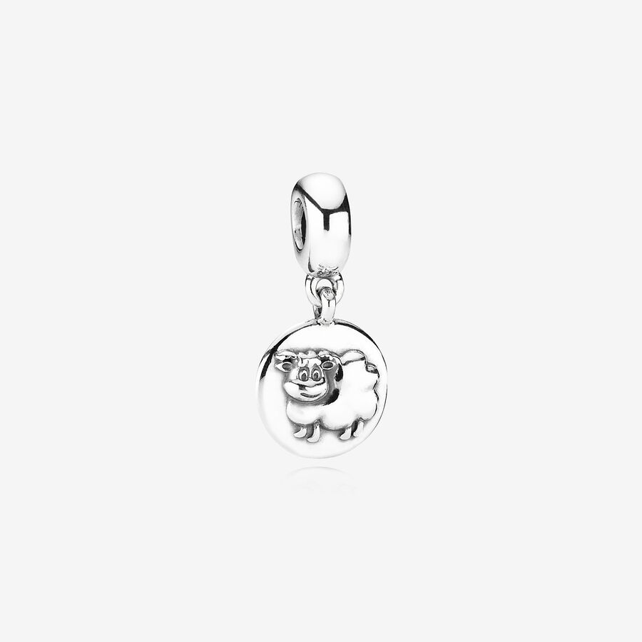 Charm colgante en plata de ley Signo zodiaco chino: Cabra image number 0
