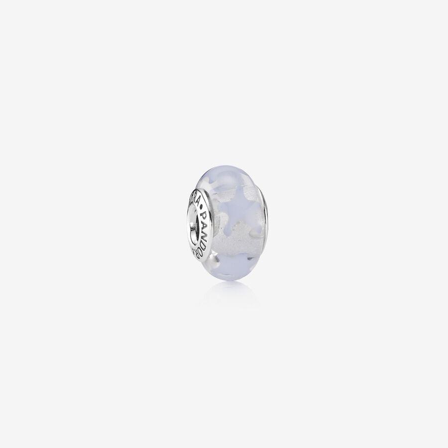 Charm Cristal de Murano Estrellas Violeta image number 0