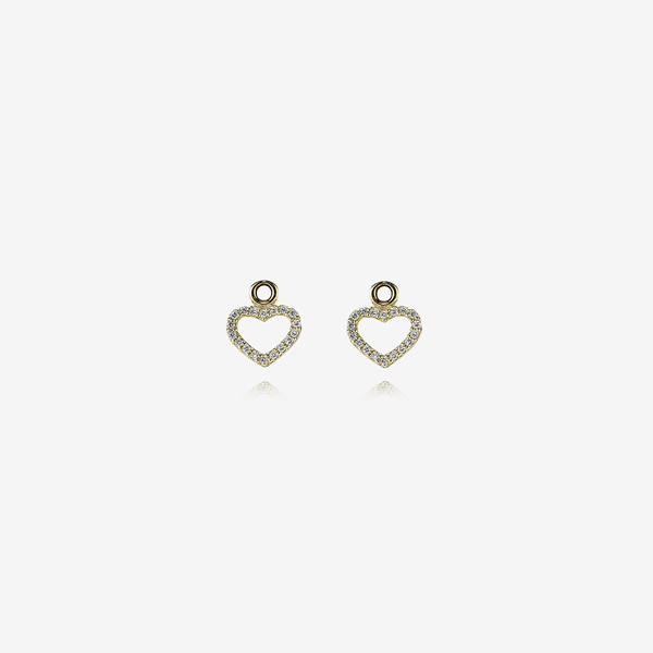 Gold earring, 0.144ct TW h/vs diamonds image number null
