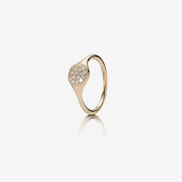 Gold ring, RG, 0.19ct TW h/vs diamonds image number null