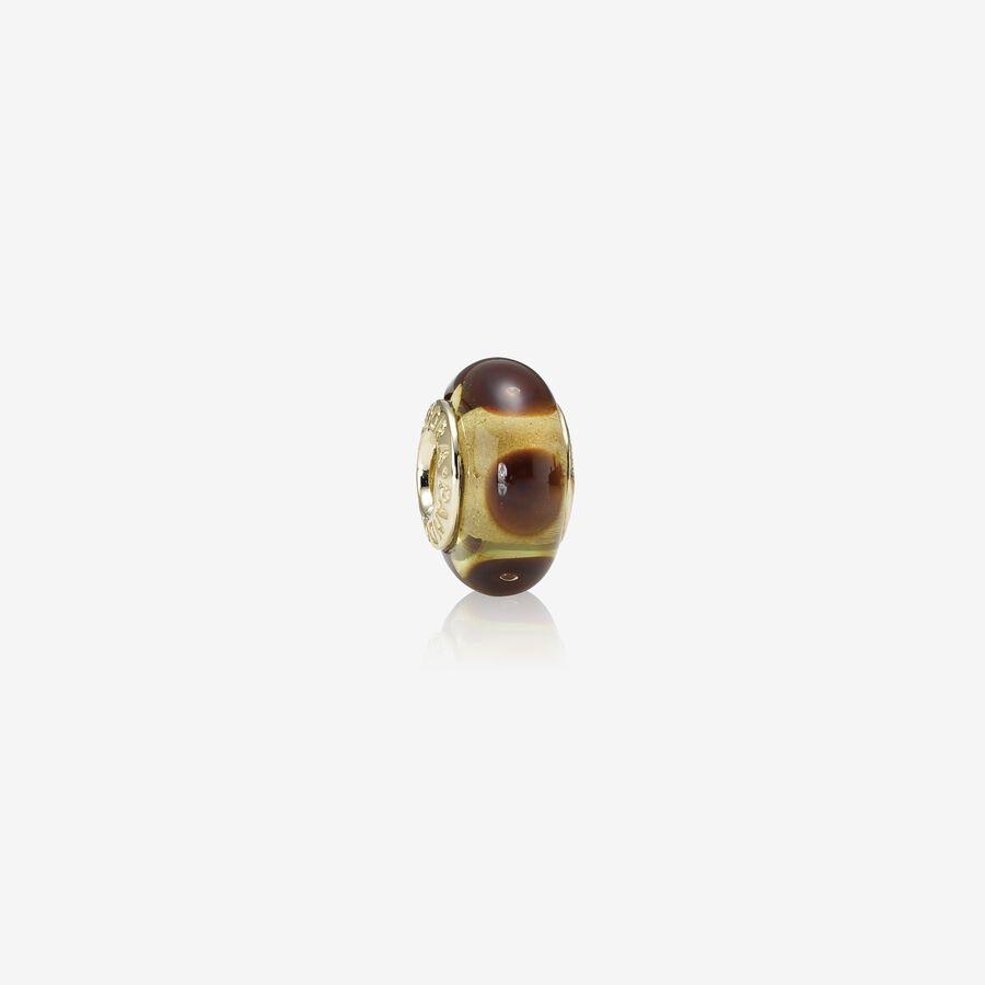 Charm en oro y cristal de Murano image number 0
