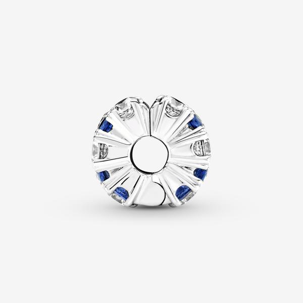 Charm de Clip Brillante Transparente y Azul image number null