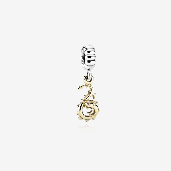 Dragon silver dangle with 14K image number null