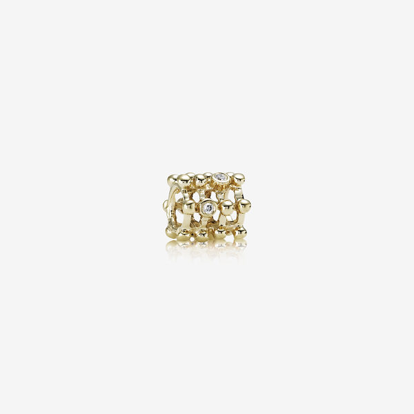 Matrix, abstract gold charm, 0.04ct TW h/vs diamonds image number null