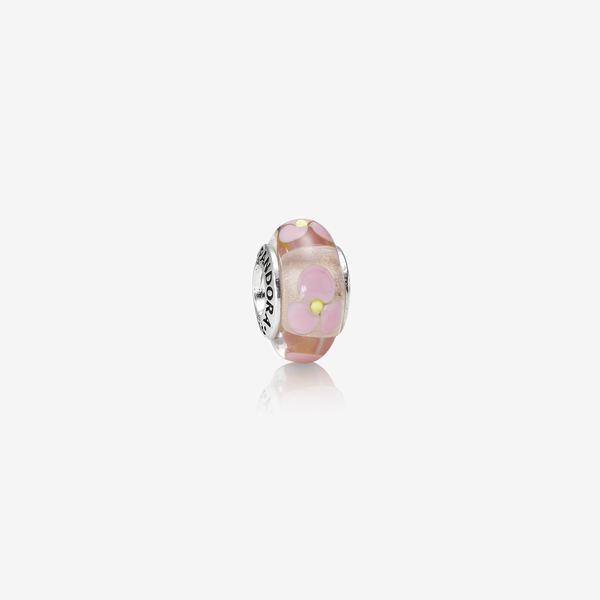 Charm Cristal de Murano Floral Rosa image number null