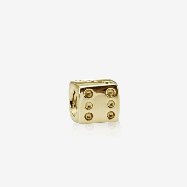 Dice gold charm image number null