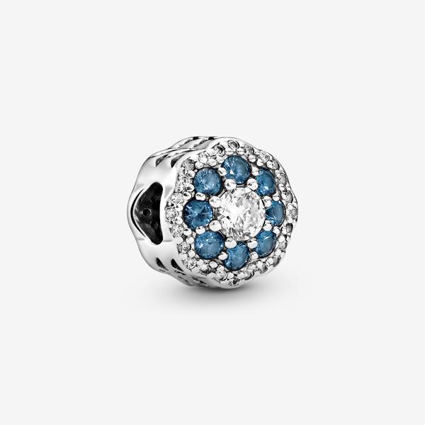 Charm en plata de ley Flor Azul Brillante image number null