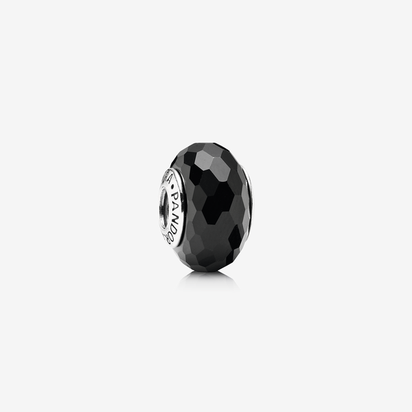 Charm Cristal de Murano Facetado Negro image number null