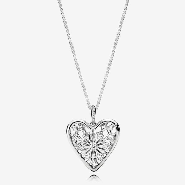 Collar en plata de ley Corazón de Invierno image number null